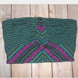 Intimately Free People Teal Tribal Bandeau Top XS